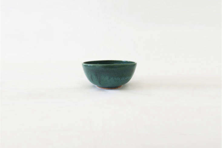 The handmade Dark Green Ceramic Bowl is $ from Etsy seller Avocation Design based in Los Angeles.