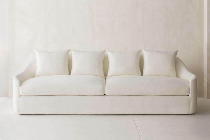 New York City atelier Dimitry & Co. designs some of our favorite luxe sofas. Take this style, the Belgard sofa with a curved back and arms and linen upholstery. Prices start at $9,375. For more, see our postBelgium by Way of Manhattan: Dmitriy & Co.