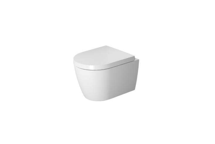 The Duravit Me by Starck Compact Wall-Mounted Rimless Toilet (3009009