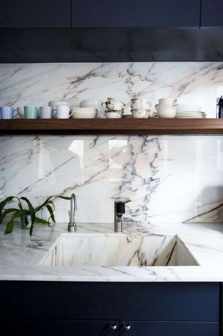 A marble sink in the Crosby Street Loft by Elizabeth Roberts (the project was a finalist in our Remodelista Considered Design Awards).