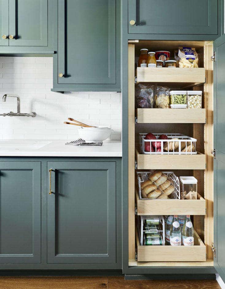 emily henderson portland mudroom open cabinet pantry