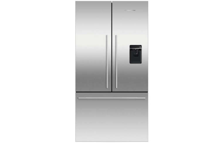 Steal This Look A Botanical Stylists Creative Kitchen Remodel in London TheFisher & Paykel Active Smart 36 Inch French Door Refrigerator is integrated into a custom maple plywood frame. The fridge is \$\2,7\29 at AJ Madison.