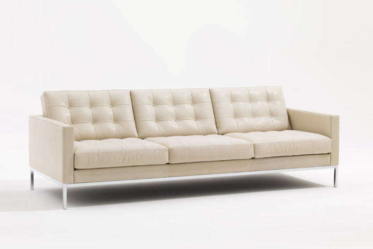 Designed by Florence Knoll in 54, the Relax Three Seater Sofa with tufted upholstery is still manufactured by Knoll and is available for £7,584 at Twentytwentyone.