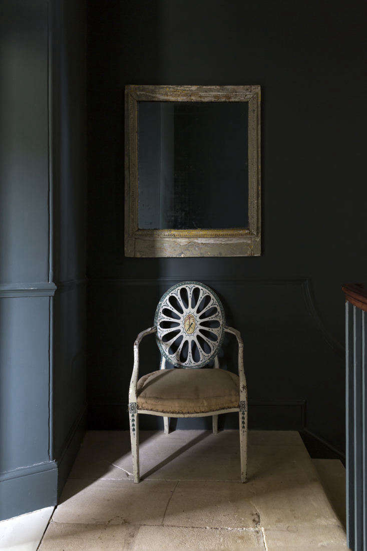 Mamma Mia Music Producer Nick Gilpins Stylishly Revived Georgian Manse A painted Hepplewhite chair stands on the half landing between the first and second floors