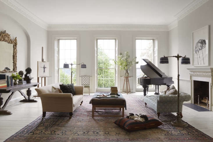 Stretching the length of the second floor, the sitting room had to be resurrected from a library &#8
