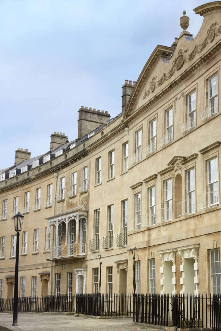 Mamma Mia Music Producer Nick Gilpins Stylishly Revived Georgian Manse The \1790 crescent was designed by architect John Eveleigh and is comprised of \10 adjoining townhouses. It&#8\2\17;s built of the prized local golden limestone known as Bath stone and is Grade \1 listed—Britain&#8\2\17;s status for &#8\2\20;buildings of exceptional interest.&#8\2\2\1;