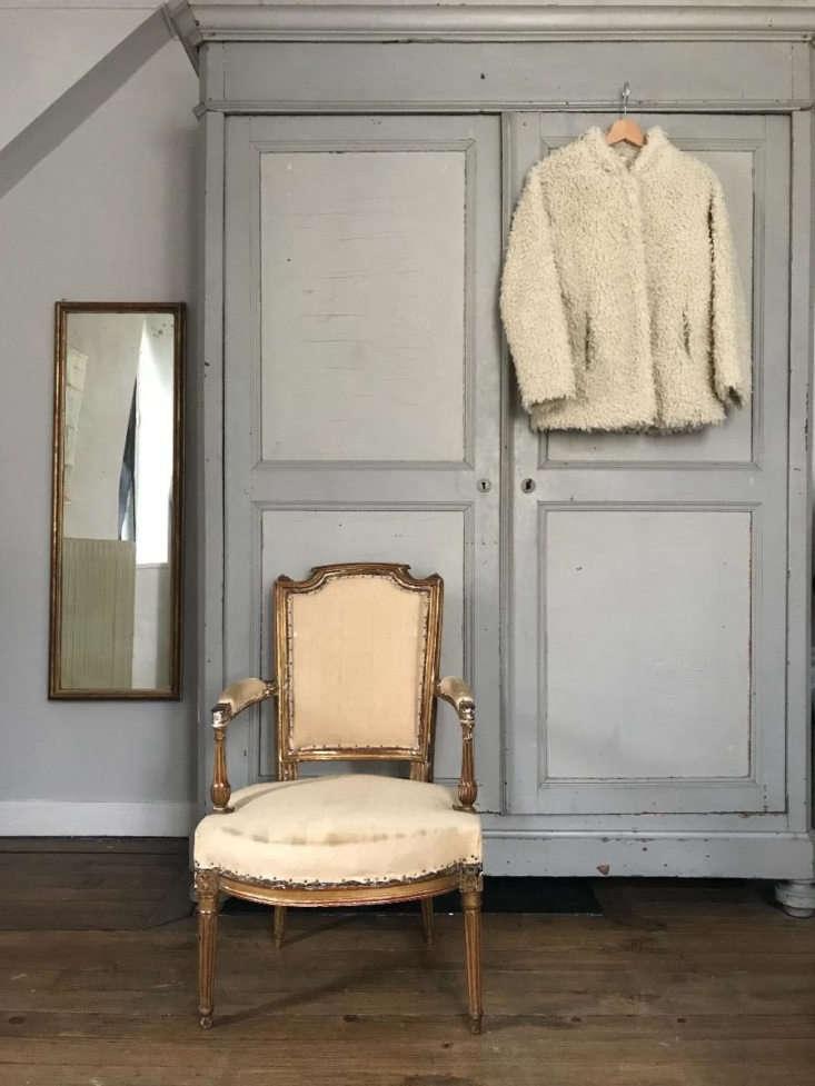 A Gilt Louis XVI Style Armchair befitting any interior.