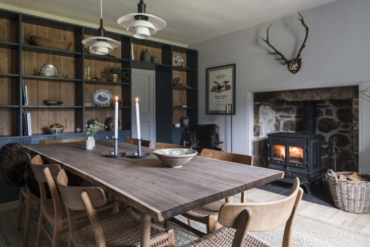 The dining area in the old Kennels Cottage, one of three buildings on the grounds and originally the shelter for &#8