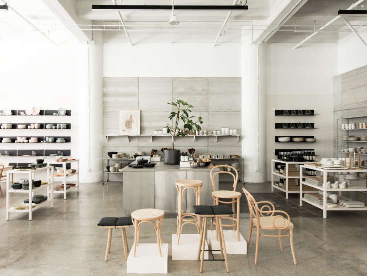 the industrial backdrop plays off the homey offerings. here, a peek at the kitc 10