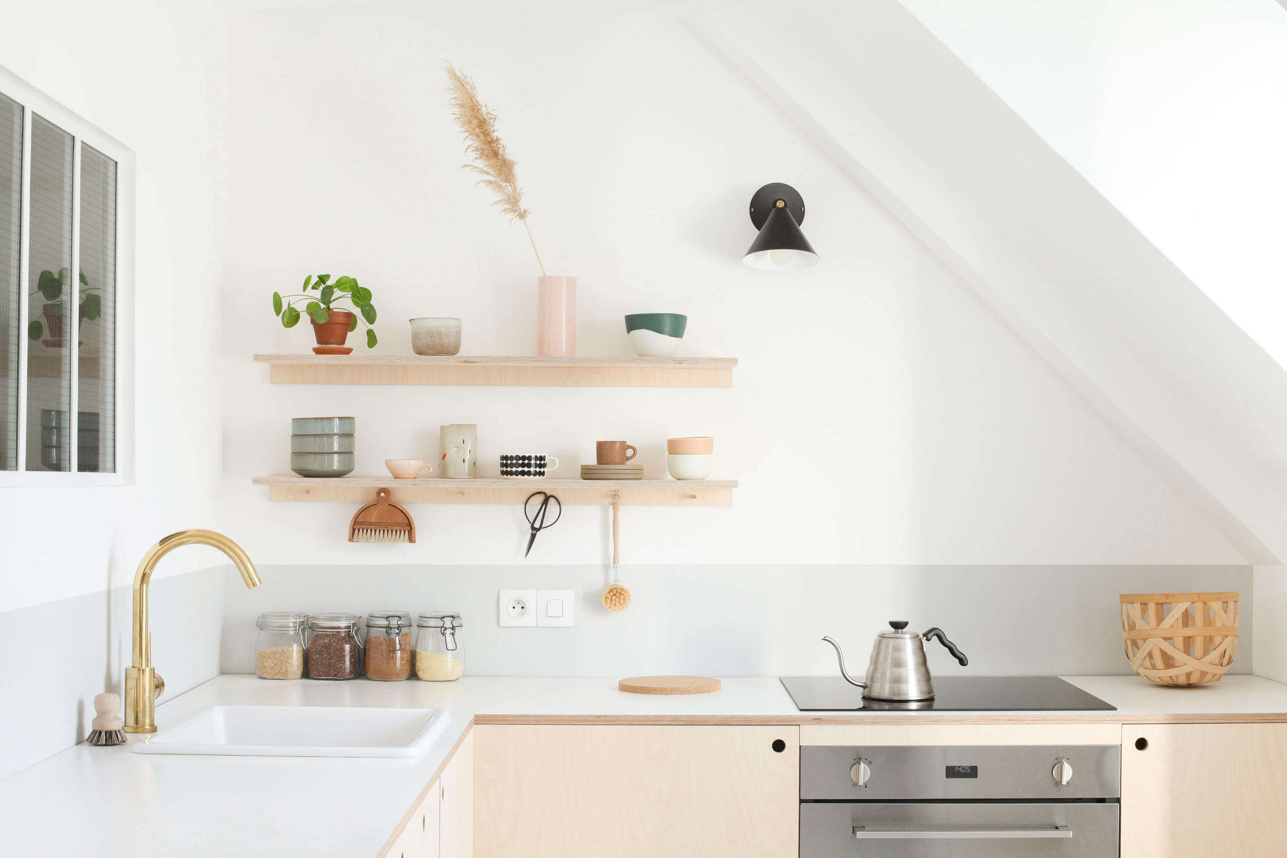 Budget Small Kitchen Makeover: Two Young Architects Build Themselves Their Dream Kitchen