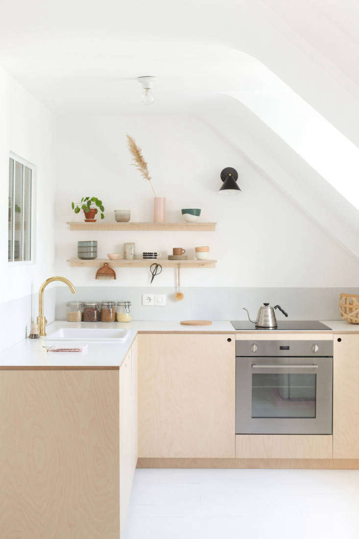Photograph by Heju (@hejustudio) from Kitchen of the Week: Two Young Paris Architects Completely Redo Their Kitchen for Under $4,300.