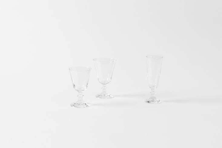 Steal This Look A Botanical Stylists Creative Kitchen Remodel in London For similar glassware to Yasuyo&#8\2\17;s collection,Parigi Stemwarefrom Italy comes as a wine, water, and champagne glass; \$\15 each at March.