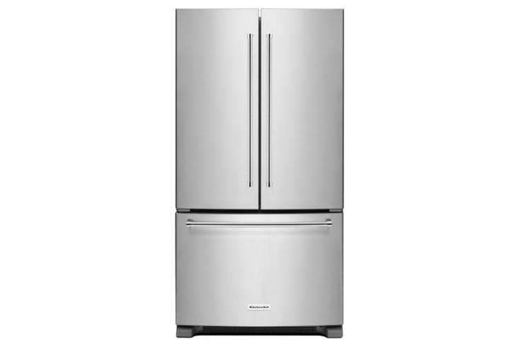 The KitchenAid French Door Counter-Depth Refrigerator (KRFC300ESS)with a depth of .38 inches is $