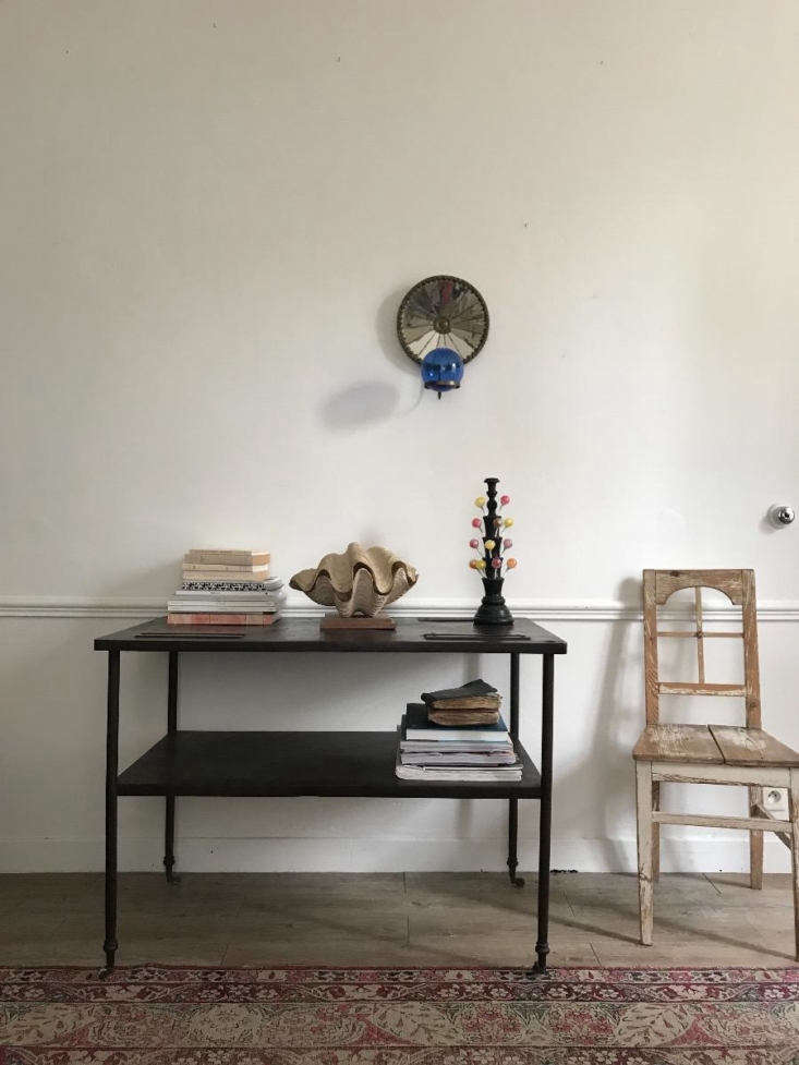 A Metal Table styled with vintage finds.