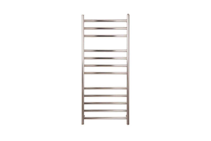 The Myson Diamond Electric Towel Warmer in Matte and Bright Stainless Steel is $3.50 at Quality Bath.