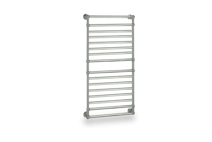 The Myson Ullswater Master Suite Electric Towel Warmer comes in Polished Chrome, Polished Nickel, Satin Nickel, Regal Brass, Oil-Rubbed Bronze, and White starting at $