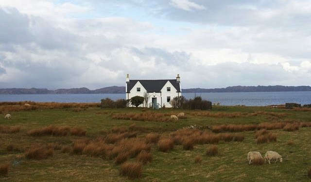 A Scottish croft looks out over the sea; see more inA Remote Scottish Bolt-Hole.