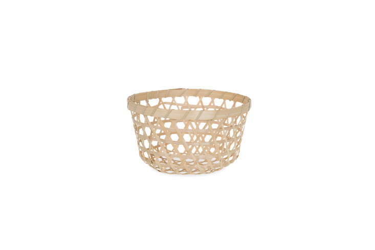 Steal This Look A Botanical Stylists Creative Kitchen Remodel in London The Round Open Weave Bamboo Basket measuring 7 inches in diameter is \$0.50 at The Lucky Clover Trading Company.
