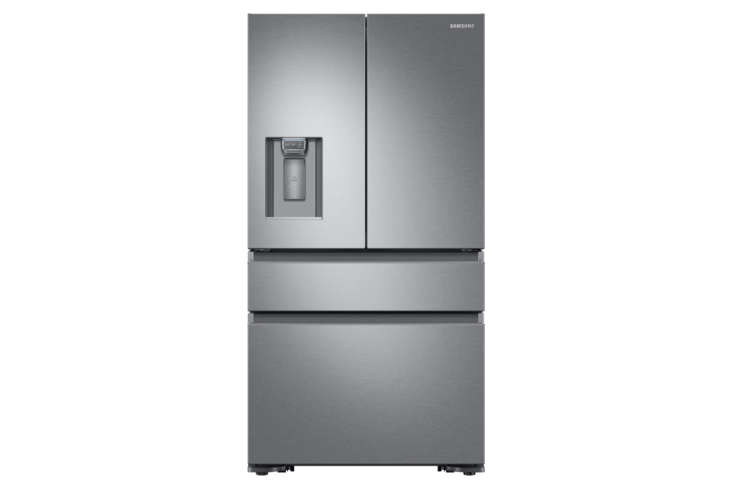 The Samsung 36-Inch Counter Depth 4-Door French Door Refrigerator (RFM8070SR) is  7/8 inches deep; $