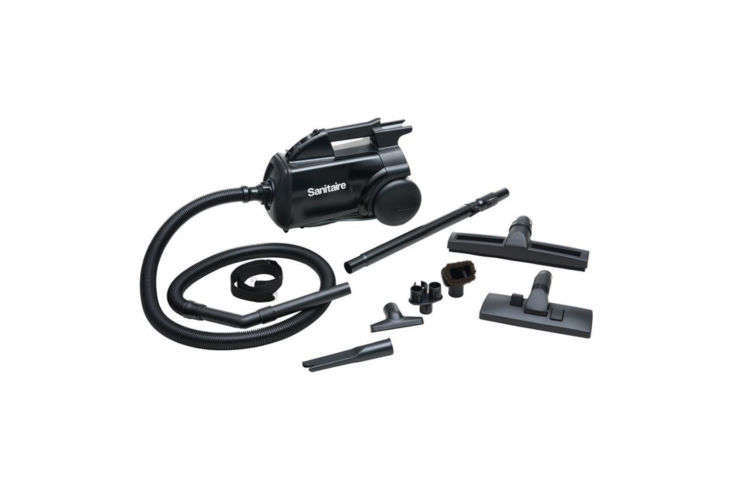 the sanitaire mighty canister vacuum with allergen filtration (sc3687a) is easy 11