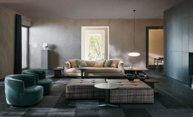 Designed by Vincent Van Duysen for Molenti, the Lucas Sofa is a single-seat cushion sofa with technical upholstery fabric or leather. ContactMolentifor price and ordering information.