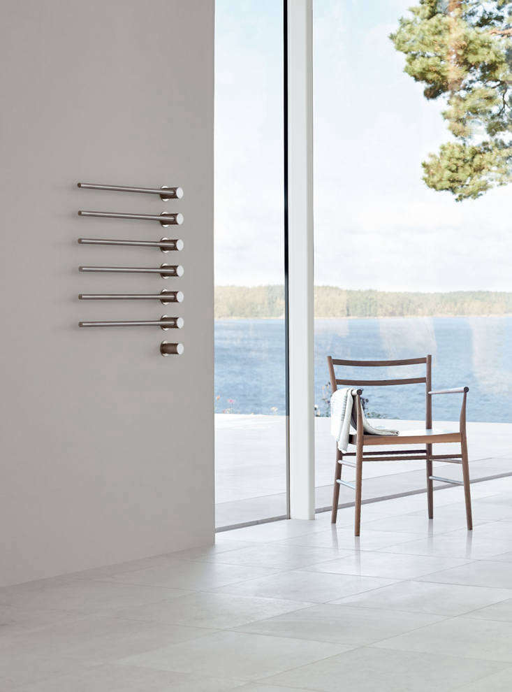 On the high end of the pricing spectrum, the Vola Stainless Steel Built-in Heated Electric Towel Warmer with Thermostat can be customized from 3 up to  towel bars starting at $4,5 at Quality Bath. It&#8