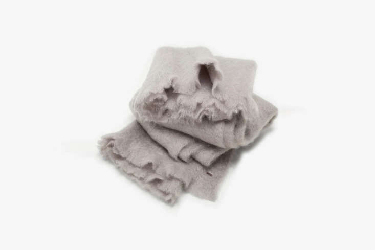 The ABCDNA Mohair Throw Light Gray is one of  colors from the ABC Carpet & Home line ABCDNA; $350 each.