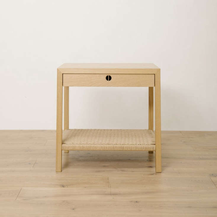 the anderson side table is made of solid oak and features a danish rope cord  16