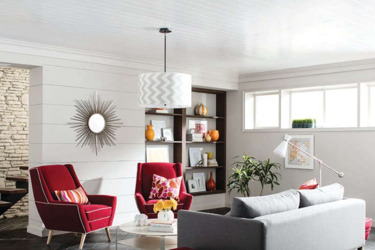 Remodeling Hack An Easy and Affordable Way to Update Your Basement WoodHaven Painted White is a classic option for those who want smooth wood style.