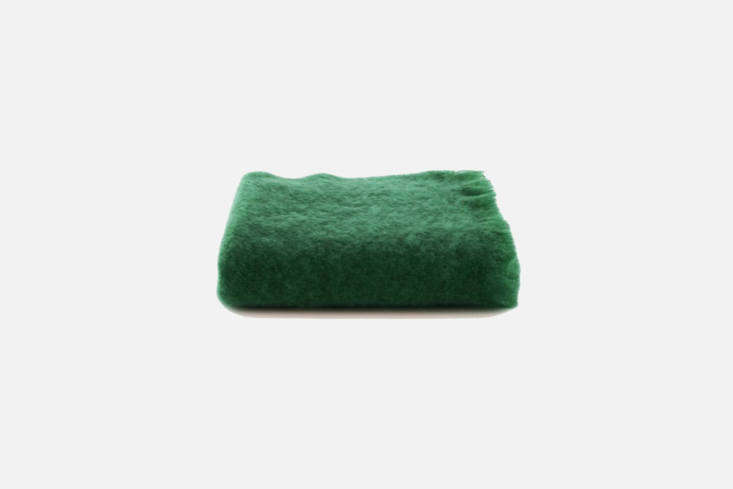 The Belle Epoque Mohair Throw in Juniper is $5 and also comes in Pebble or Ginger, available at One Kings Lane.