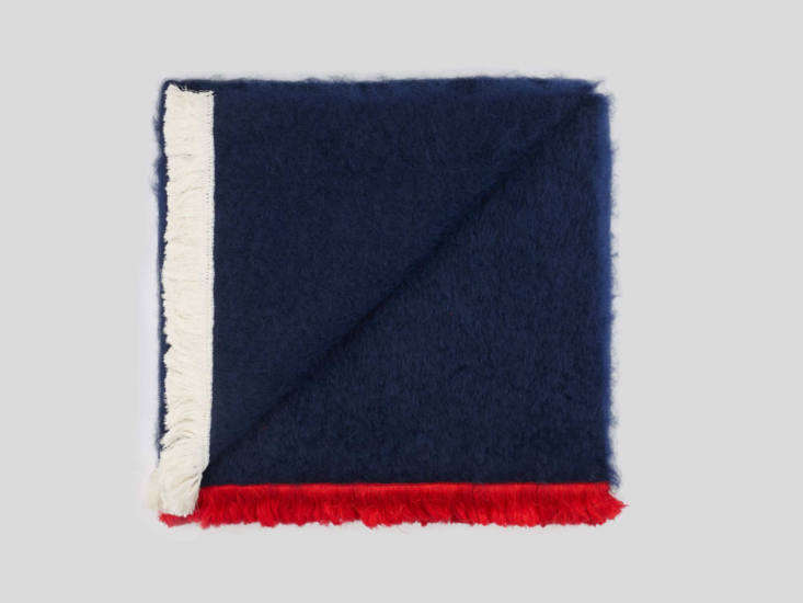 The mohair Bluff throw has a decidedly French vibe; $537.55.