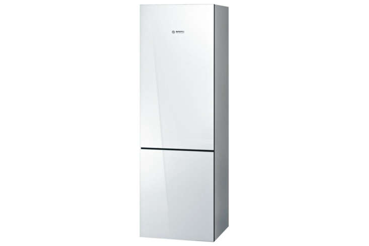 The Bosch 800 Series  Inch Counter-Depth Bottom Freezer Refrigerator (BCB80NVW) has a depth of  3/4 inches and is $