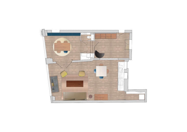 hermand&#8\2\17;s love of color extends to her floor plans. she converted t 26