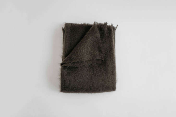 The Mohair Throw, shown in Bark, is woven in the UK and comes in seven other colors; $7 at Evangeline in Portland, Maine.