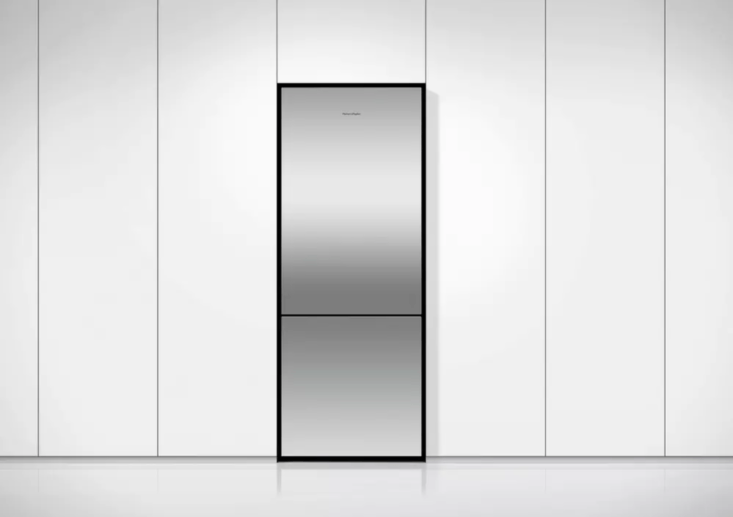 The Fisher & Paykel -Inch Freestanding Counter-Depth Bottom Freezer Refrigerator (RF5BLPX6) is  3/8 inches deep; $loading=