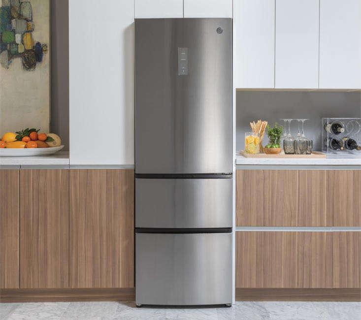 The GE -Inch Counter-Depth Bottom Freezer Refrigerator (GLEloading=
