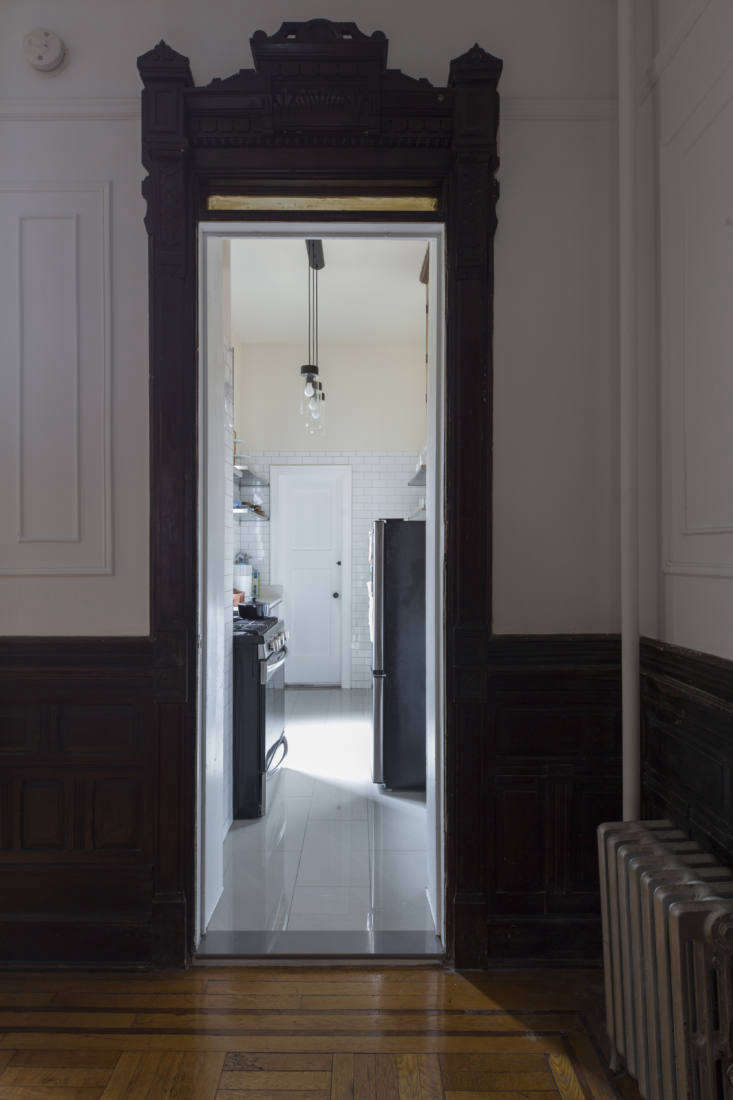 Another doorway off of the dining room leads to the newly renovated galley kitchen.