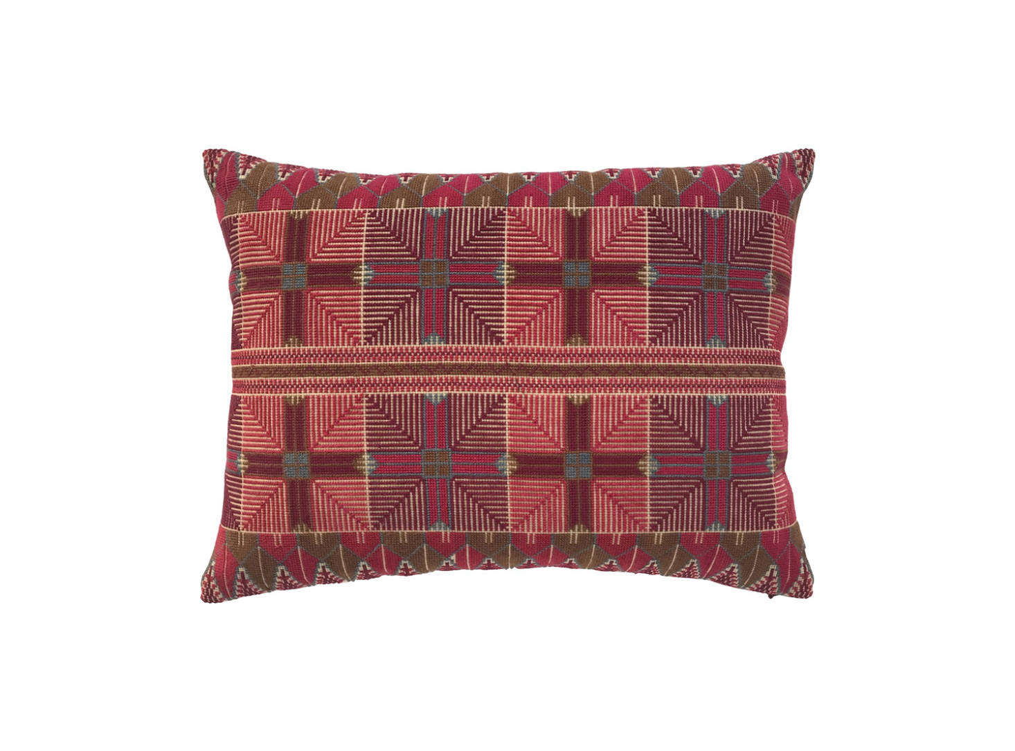 The Ensaf Pillow features a design inspired by a traditional pattern embroidered onto the edges of a dress; $350.