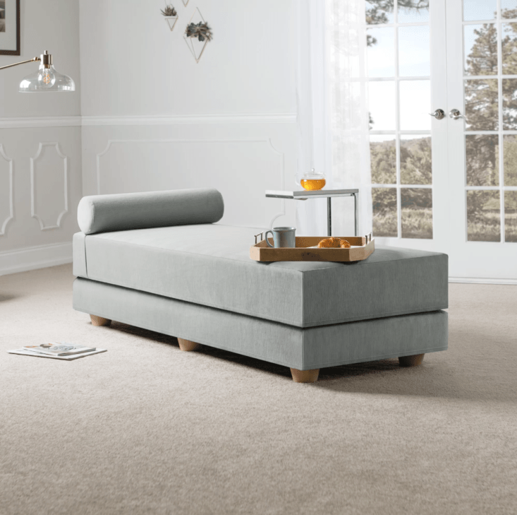 The Lolotoe Convertible Daybed with Mattress folds down and opens into a queen; $749.99 at Joss & Main.