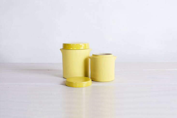 For something similar to the yellow ceramic storage jars in the kitchen, see Manufacture de Digoin&#8