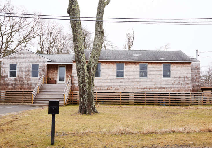 the house in february. during the initial remodel, the vinyl siding was removed 30