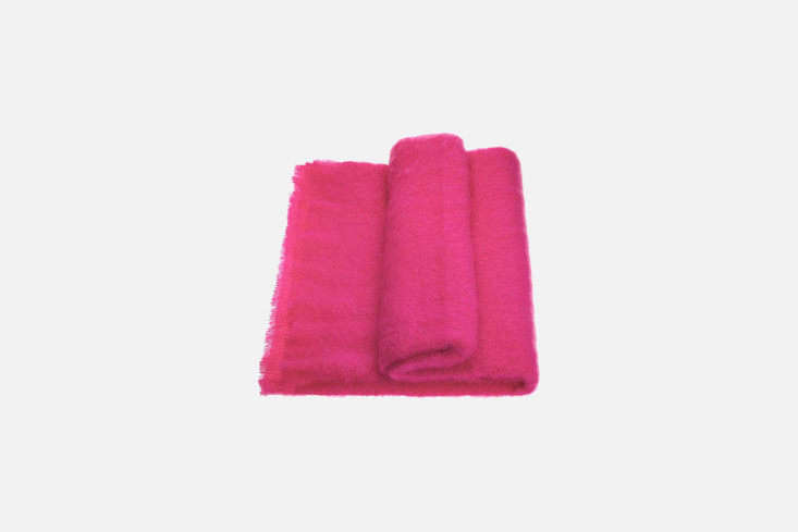 From Mohair & Possum in New Zealand, the Mohair Throw Hot Pink is $9 to $5 NZD.