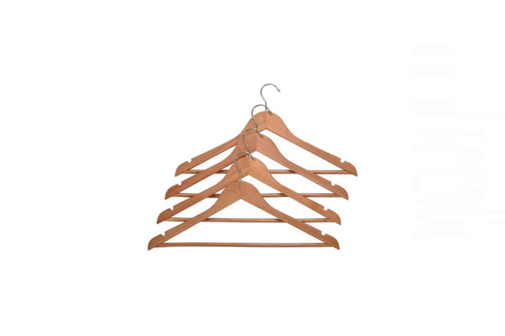 we like wooden clothes hangers for their durability, uniformity, and ability to 25