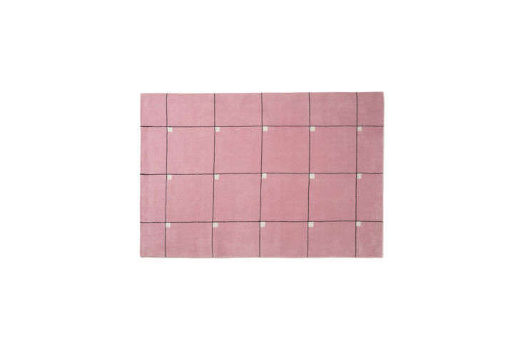 for the daring: themodern pink rug by nordic knots is inspiredby an early \ 10