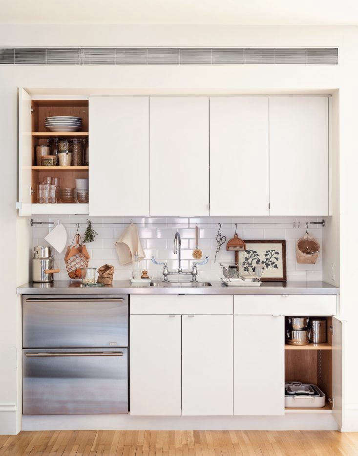 And, The Organized Home took a closer look at an inspiring kitchenette in5 Space-Saving Ideas to Steal from a Brooklyn Kitchenette, Ikea Hack Included. Photograph by Matthew Williams.