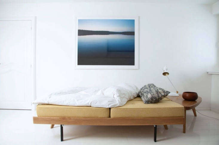 TheRemix Night Couchis designed by Gesa Hansen, founder of the Hansen Family. It's handmade with a solid oak frame, comes in any textile from the Hansen Family or Kvadrat lines, and folds out flat into a platform bed. Prices start at $