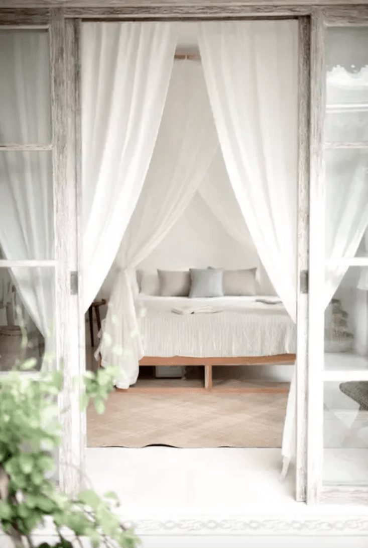The InstaFamous Airbnb Villa Arunja in Bali Bedroom at Villa Arunja Airbnb in Canggu Bali