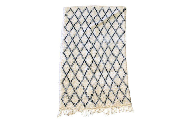 Steal This Look Ensuite Bath Alcove in a London Renovation The Vintage Beni Ourain Rug handmade by Berber peoples in the Atlas Mountains of Morocco is £493 at SCP.