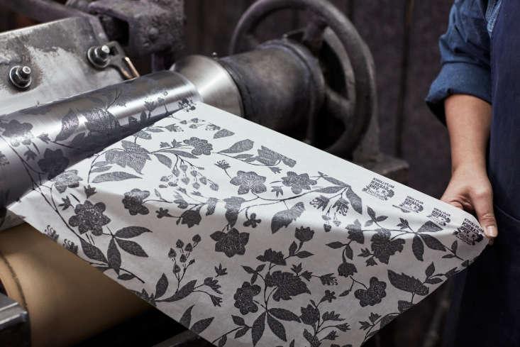 freshly printed tissue paper in ralph lauren&#8\2\17;s custom garden vine p 12