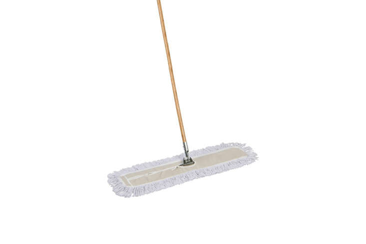 The American Market Industrial Strength Cotton Dust Mop with Solid Wood Handle is $30.99 from Amazon.
